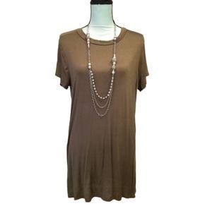 Krush Deep V Back Short Sleeve Shirt Dress Size L
